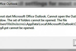 Problems Reinstalling Outlook 2007